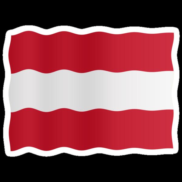 Austria flag by stuwdamdorp