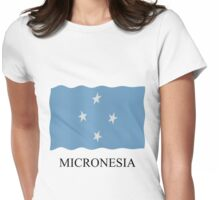 Micronesia flag Womens Fitted T-Shirt