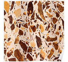Brown Chunk Marble Poster