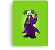 Dr. Wily Joker Canvas Print