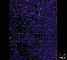 USGS Topo Map Washington State WA Foothills 241149 1973 24000 Inverted by wetdryvac