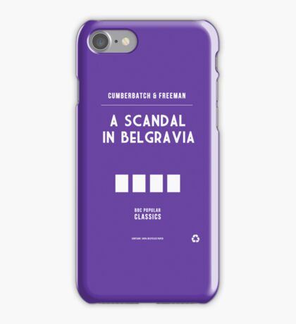 BBC Sherlock - A Scandal in Belgravia Minimalist iPhone Case/Skin