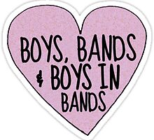 """Boys In Bands"" tumblr sticker by youtubemugs"