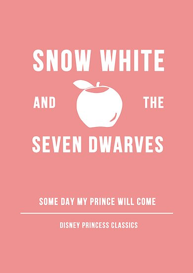 Disney Princesses: Snow White Minimalist by ofalexandra