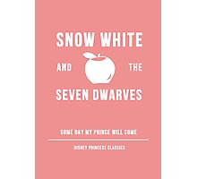 Disney Princesses: Snow White Minimalist Photographic Print