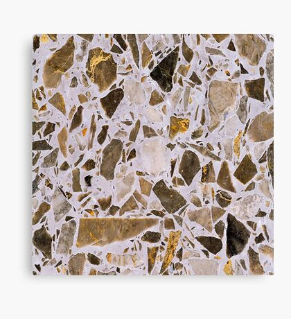 Brown Chip Marble Canvas Print