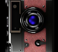 Vintage retro rangefinder camera iPhone case #2 by Steve Crompton
