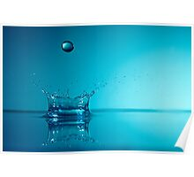 Splashing Water Droplet, close-up, studio shot Poster