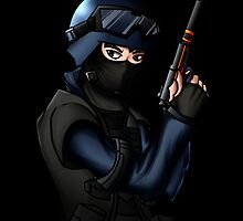 Counter-Strike Police: Anime by SALSAMAN