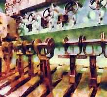 Steampunk - Levers in Underwater Vessel by Susan Savad