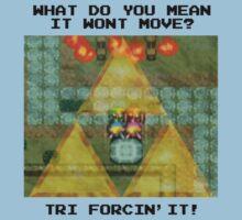 Zelda Tri Forcin' It  One Piece - Short Sleeve
