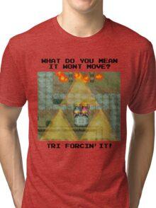 Zelda Tri Forcin' It  Tri-blend T-Shirt