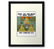 Zelda Tri Forcin' It  Framed Print