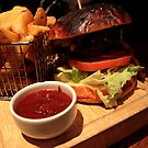 Beef Burger & Chips by rsangsterkelly