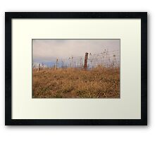 fence in mid morning Framed Print
