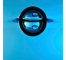 Droplet forming bubble, underwater view Photographic Print