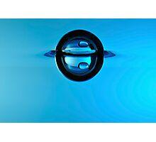Splashing Droplet into water, underwater Photographic Print