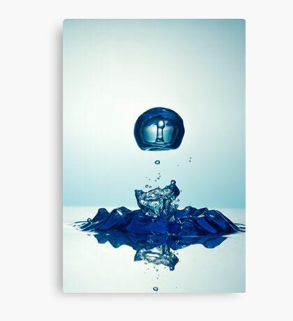 Splashing Droplet into water Canvas Print