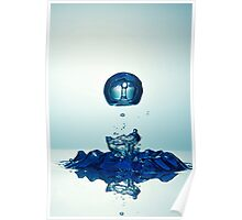 Splashing Droplet into water Poster