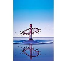Water drops colliding to shape an umbrella splash Photographic Print