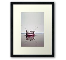 Splashing Water Droplet Framed Print