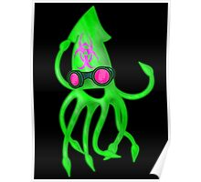 Nuclear Rave Squid Poster