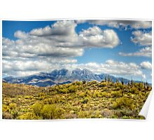 A Dusting of Snow on Four Peaks  Poster