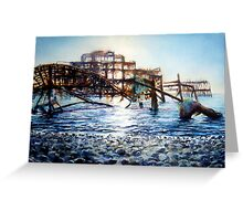 The West Pier , A derelict piece of victorian Architecture Greeting Card