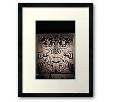 Faces Ink Framed Print