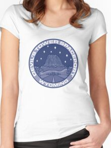 Devil's Tower Spaceport Women's Fitted Scoop T-Shirt