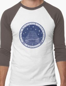 Devil's Tower Spaceport Men's Baseball ¾ T-Shirt
