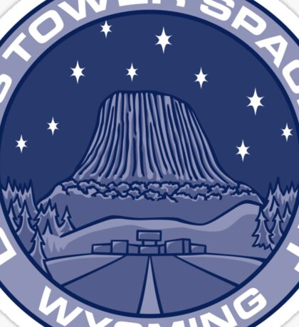Devil's Tower Spaceport Sticker