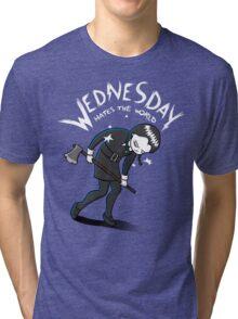 Wednesday Hates The World Tri-blend T-Shirt