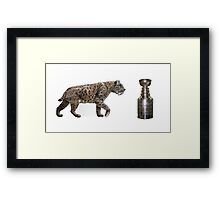 """""""The Hunt""""                        On the hunt for the Stanley Cup Framed Print"""