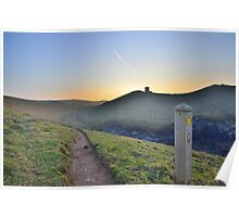 Cornwall: Evening on the Coast Path Poster