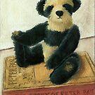 Christopher Robin- teddy bear portrait by LindaAppleArt