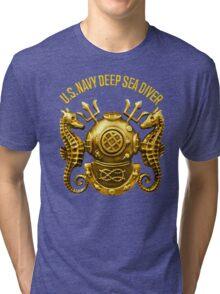 Navy Diver Tri-blend T-Shirt
