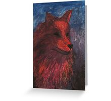 Night Fox Greeting Card