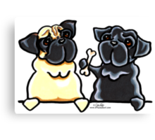 Bone to Pug Canvas Print