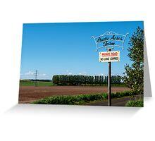 crudie acres farm Greeting Card