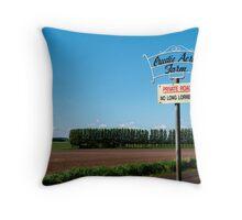 crudie acres farm Throw Pillow