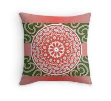 etnic mandala background Throw Pillow