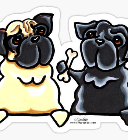Bone to Pug Sticker