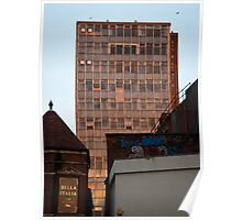 Tower block in the Sunset Poster
