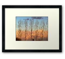 Sunset Colors- Country Roads- 2-18-2012 Framed Print