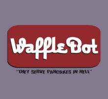 """Waffle Bot """"They Serve Pancakes in Hell"""" Kids Clothes"""