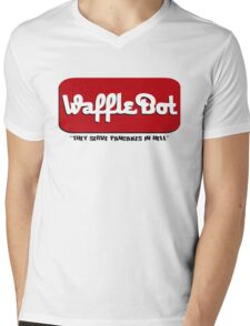 "Waffle Bot ""They Serve Pancakes in Hell"" Mens V-Neck T-Shirt"