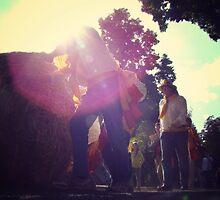 Haybale Rolling Festival by MissBea