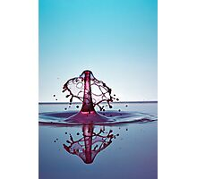 Splashing Water Droplet Photographic Print