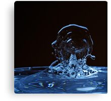 Splashing Water Droplet shaping human profile Canvas Print